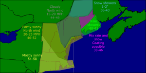Monday morning forecast map 4-28