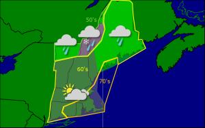 Monday morning forecast map 9-22
