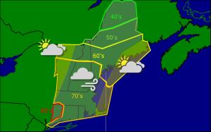 Monday morning forecast map 9-29