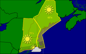 Wednesday morning forecast map 9-24