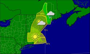 Friday morning forecast map 10-17