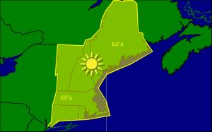 Monday morning forecast map 10-6