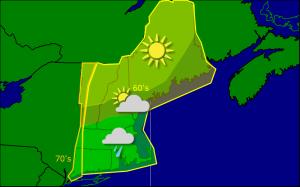 Thursday morning forecast map 10-2
