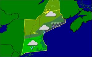 Wednesday morning forecast map 10-1