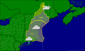 Wednesday morning forecast map 10-15