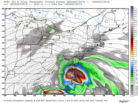 18Z GFS Depiction of A Mid Atlantic Landfall