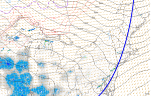 8PM Surface Analysis Off The SPC Mesoanalysis Page Showing A Cold Front Stretched Across The Area.