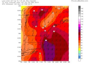12Z GFS Showing High Winds Once Again Lurking Above The Surface. Image Credit: Accuweather