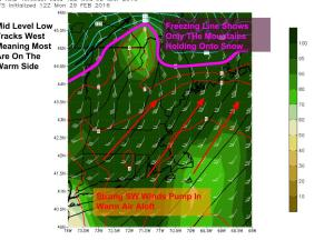12Z GFS Showing The Upper Level Setup Wednesday Evening