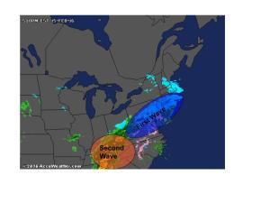 Evening Radar Showing The Setup For Tomorrow. Image Credit: Accuweather
