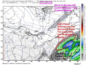 12Z CMC (GEM) Showing A Slightly Stronger Solution. Image Credit; Weatherbell