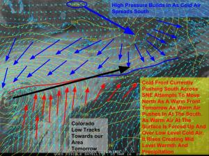 Afternoon Observations Showing Our Next Storm Setting Up To Our West. Image Credit: COD