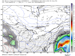 12Z CMC Showing A Near Miss Late Week. Image Credit: Weatherbell