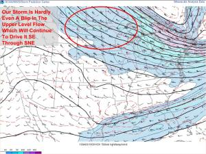 Afternoon Upper Air Analysis Showing Little Support For Tomorrow's Storm. Image Credit: SPC Mesoanalysis