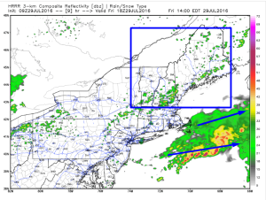 HRRR Interpretation Of This Afternoon's Forecast. Image Credit: Weatherbell