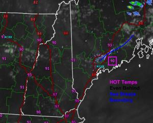 Current (6:00 PM) Obs Verifying Today's Forecast