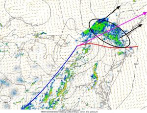 4PM Surface Observations Showing The Surface Setup For Tonight. Image Credit: SPC Mesoscale Analysis