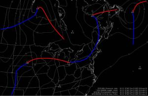 12Z GFS Showing A Weak Cold Front Passing Overhead Thursday