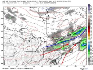 12Z GFS Showing The Pattern For Mid/Late Week. Image Credit: Weatherbell