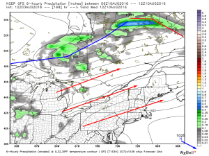 12Z GFS Showing The Pattern For The Latter Half Of Next Week. Image Credit: Weatherbell