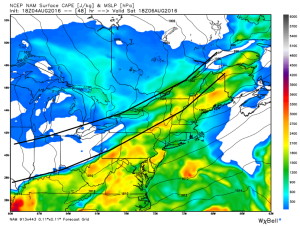 12Z 12km NAM Showing A High-Energy Solution. Image Credit: Weatherbell