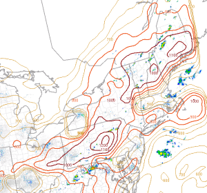 Downdraft CAPE Indicating The Potential For Strong Wind Gusts.