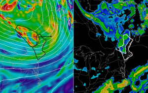 12Z GFS Showing The Setup For Afternoon Mountain Showers Tomorrow.