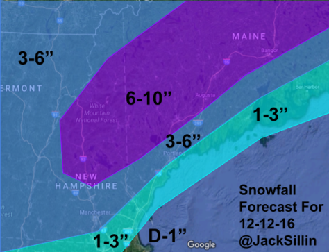 Updated Snow Map.