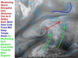 WV Satellite Imagery Showing Our Storm System Off To The West. Image Credit: COD