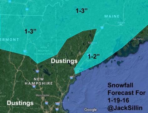 Snowfall Forecast For Thursday