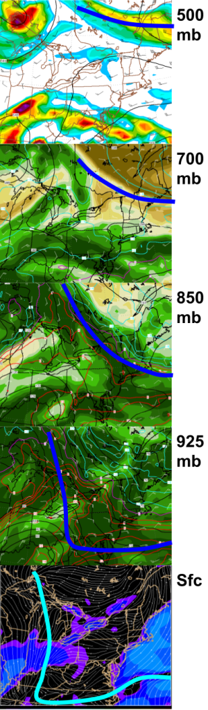 18Z NAM Vertical Slice Compilation Tomorrow Evening. Image Credit: Accuweather