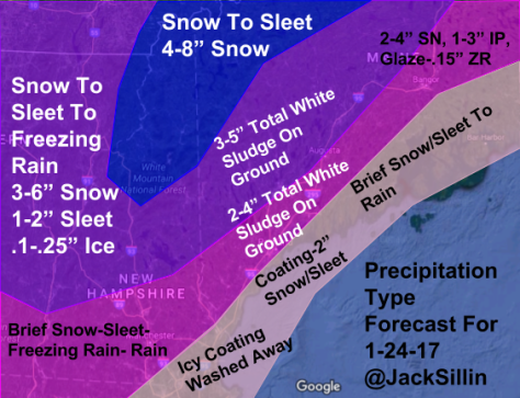 Precip Type/Amount Forecast For Tomorrow Night Through Tuesday Evening