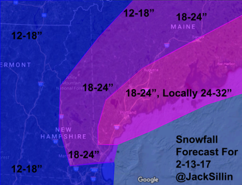 Updated Snowfall Forecast